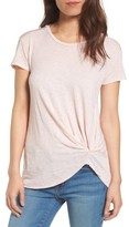 Stateside Women's Knot Detail Slub Knit Tee