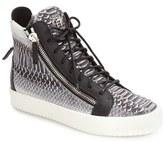 Giuseppe Zanotti Men's Snake Print High Top Sneaker