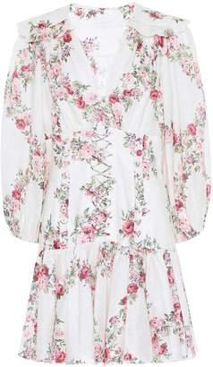 Zimmermann Honour floral linen minidress