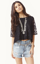 Myne madeline lace top