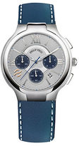 Philip Stein Teslar Mens Stainless Steel and Leather Chronograph Watch