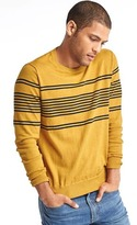 Gap Chest-stripe crew sweater