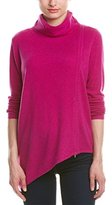Magaschoni Women's Turtle Neck Asymmetric Hem