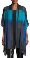 Caroline Rose Jewel-Tone Georgette Long Tunic, Plus Size