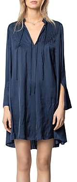 Zadig & Voltaire Raika Satin Short Dress