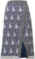 Altuzarra paisley slit pencil skirt