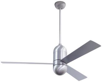 "Modern Fan Cirrus DC Fan, Brushed Aluminum Finish, 50"" Aluminum Blades, No Light"