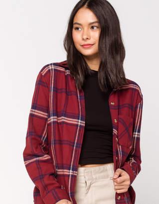 Full Tilt One Pocket Rust Womens Boyfriend Flannel