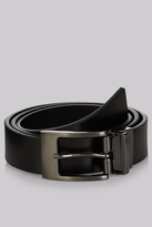 Moss Bros Black Textured Reversible Belt