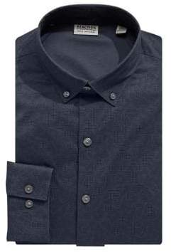 Kenneth Cole Reaction Slim-Fit Printed Dress Shirt