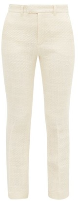 Holiday Boileau High-rise Boucle Slim-leg Trousers - Ivory