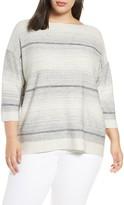 Lafayette 148 New York Ombre Silk & Linen Blend Sweater