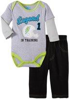 Bon Bebe Legend In Training Bodysuit Set (Baby)-Multicolor-0-3 Months