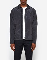 Stone Island Nylon Metal Garment Dyed Overshirt in Charcoal