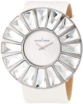 Jacques Lemans Flora 1-1638B Ladies White Leather Strap Watch