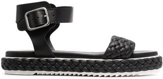 AGL Woven-Strap Leather Sandals
