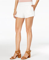 Amy Byer Juniors' Smocked-Waist Ruffled Soft Shorts