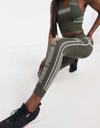 Puma Training seamless sculpt leggings in khaki