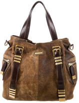 Michael Kors Distressed Leather Satchel