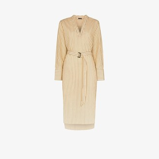 Joseph Janis striped belted dress