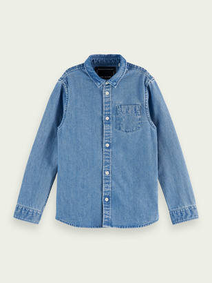 Scotch & Soda Organic cotton denim shirt | Boys