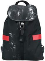 Neil Barrett block stripe and graphic print backpack
