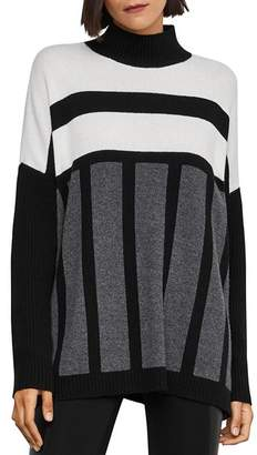 BCBGMAXAZRIA Oversized Color-Block Tunic