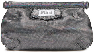 Maison Margiela Glam Slam Quilted Holographic Suede Clutch