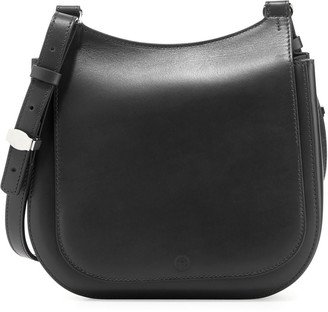 The Row Leather Hunting 9 Shoulder Bag, Brick