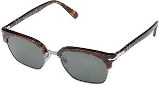 Persol 0PO3199S (Gunmetal/Havana/Polarized Green) Fashion Sunglasses