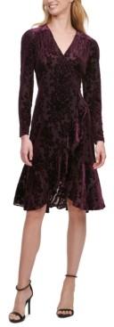 Tommy Hilfiger Floral Velvet Midi Dress