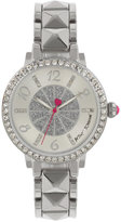 Betsey Johnson Women's Silver-Tone Bracelet Watch 35mm BJ00617-01