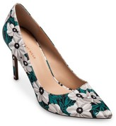 Who What Wear Women's Ally Printed Satin Pumps