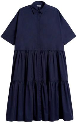 Co Drop Waist Tiered Dress in Navy