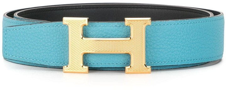Hermes 2019 pre-owned H buckle Constance reversible belt