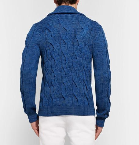 Missoni Cable-Knit Mélange Wool Cardigan