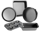 Bakeware,Hmane Set of 5 Carbon Steel Non-stick Baking Mould Pan Cookies Plate Bakeware