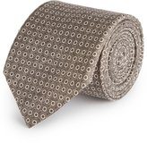 Reiss Reiss Kym - Silk Dot Tie In Brown, Mens