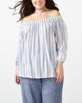 Penningtons Striped Off Shoulder Blouse