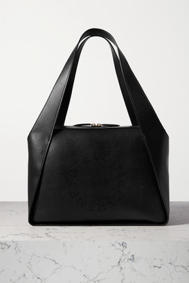 Stella McCartney Perforated Vegetarian Leather Tote - Black