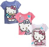 Hello Kitty Girls' Tees 3-Pack, Multi