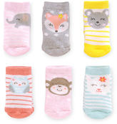 Gold Bug Carter's Girls 6 Pack Terry Face Socks