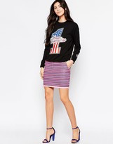 Love Moschino Neon Tapestry Skirt