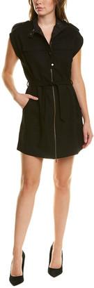 Tsesay Tie-Waist Wool Shift Dress