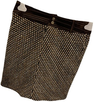 Dolce & Gabbana Brown Wool Skirt for Women
