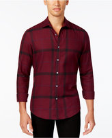 Alfani Brushed Plaid Shirt, Only at Macy's