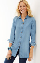 J. Jill Tencel® Indigo A-Line Tunic