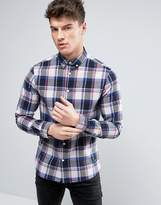Solid Checked Shirt In Regular Fit