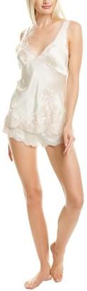 Josie Natori 2Pc Lolita Silk Pajama Short Set