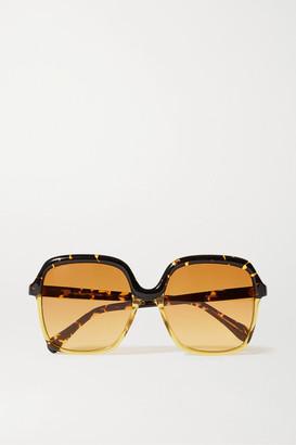 KALEOS Clarke Oversized Square-frame Tortoiseshell Acetate Sunglasses - Yellow
